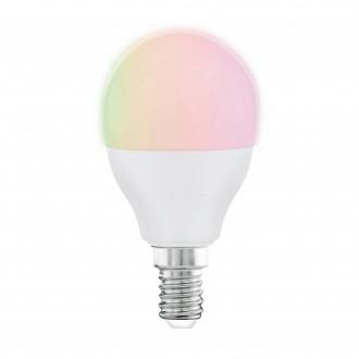 EGLO 11857 | E14 5W -> 35W Eglo kis gömb P45 LED fényforrás RGBTW okos világítás 470lm 2700 <-> 6500K szabályozható fényerő, állítható színhőmérséklet, színváltós, távirányítható CRI>80