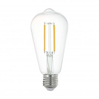 EGLO 11862 | E27 6W -> 60W Eglo Edison ST64 LED fényforrás filament okos világítás 806lm 2700K szabályozható fényerő, távirányítható CRI>80