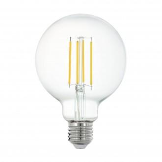 EGLO 11863 | E27 6W -> 60W Eglo nagy gömb G95 LED fényforrás filament okos világítás 806lm 2700K szabályozható fényerő, távirányítható CRI>80