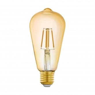 EGLO 11865 | E27 5,5W -> 41W Eglo Edison ST64 LED fényforrás filament okos világítás 500lm 2200K szabályozható fényerő, távirányítható CRI>80