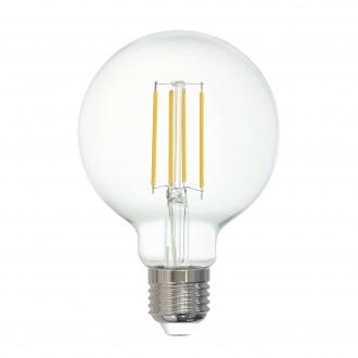 EGLO 12571 | E27 6W -> 60W Eglo nagy gömb G80 LED fényforrás filament okos világítás 806lm 2700K szabályozható fényerő, távirányítható CRI>80