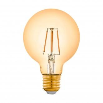 EGLO 12572 | E27 5,5W -> 41W Eglo nagy gömb G80 LED fényforrás filament okos világítás 500lm 2200K szabályozható fényerő, távirányítható CRI>80