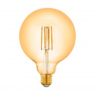 EGLO 12573 | E27 6W -> 50W Eglo nagy gömb G125 LED fényforrás filament okos világítás 650lm 2200K szabályozható fényerő, távirányítható CRI>80