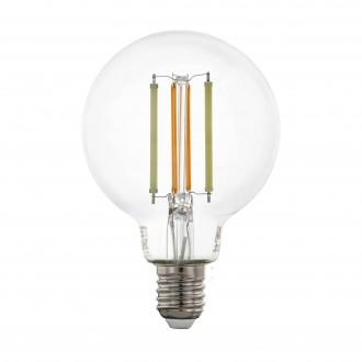 EGLO 12575 | E27 6W -> 60W Eglo nagy gömb G80 LED fényforrás CCT filament okos világítás 806lm 2200 <-> 6500K szabályozható fényerő, állítható színhőmérséklet, távirányítható CRI>80