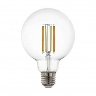 EGLO 12576 | E27 6W -> 60W Eglo nagy gömb G95 LED fényforrás CCT filament okos világítás 806lm 2200 <-> 6500K szabályozható fényerő, állítható színhőmérséklet, távirányítható CRI>80