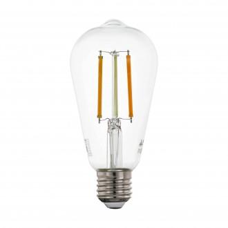EGLO 12577 | E27 6W -> 60W Eglo Edison ST64 LED fényforrás CCT filament okos világítás 806lm 2200 <-> 6500K szabályozható fényerő, állítható színhőmérséklet, távirányítható CRI>80
