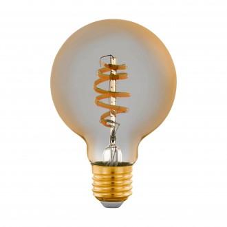 EGLO 12579 | E27 5,5W -> 35W Eglo nagy gömb G80 LED fényforrás CCT filament okos világítás 400lm 2200 <-> 6500K szabályozható fényerő, állítható színhőmérséklet, távirányítható CRI>80