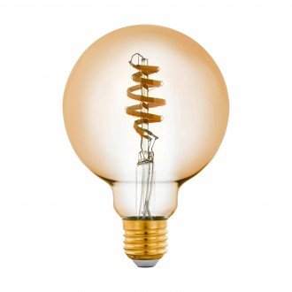 EGLO 12581 | E27 5,5W -> 35W Eglo nagy gömb G95 LED fényforrás CCT filament okos világítás 400lm 2200 <-> 6500K szabályozható fényerő, állítható színhőmérséklet, távirányítható CRI>80