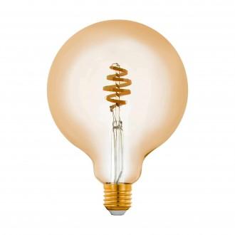 EGLO 12582 | E27 5,5W -> 35W Eglo nagy gömb G125 LED fényforrás CCT filament okos világítás 400lm 2200 <-> 6500K szabályozható fényerő, állítható színhőmérséklet, távirányítható CRI>80