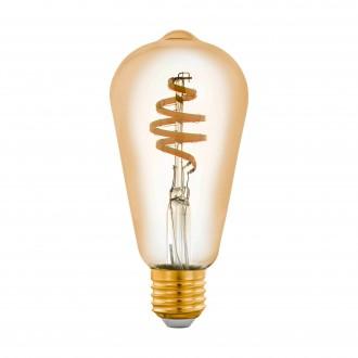 EGLO 12583 | E27 5,5W -> 35W Eglo Edison ST64 LED fényforrás CCT filament okos világítás 400lm 2200 <-> 6500K szabályozható fényerő, állítható színhőmérséklet, távirányítható CRI>80