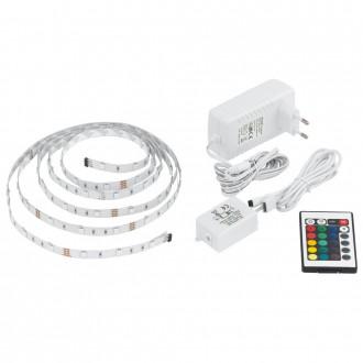 EGLO 13532 | Eglo_LS_Basic Eglo LED szalag RGB lámpa távirányító szabályozható fényerő, színváltós 1x LED RGBK fehér