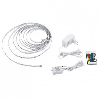 EGLO 13533 | Eglo-LS-Basic Eglo LED szalag RGB lámpa távirányító szabályozható fényerő, színváltós 1x LED RGBK fehér