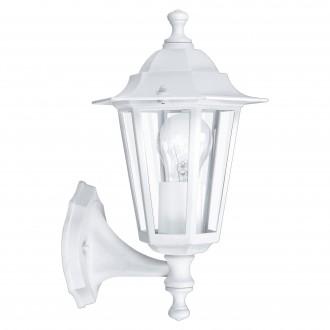 EGLO 22463 | Laterna8 Eglo falikar lámpa 1x E27 IP44 fehér, áttetsző