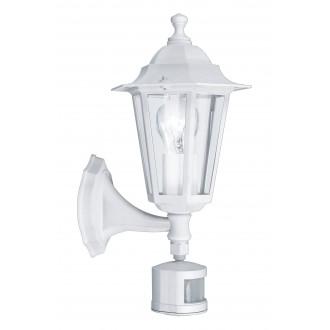 EGLO 22464 | Laterna8 Eglo fali lámpa mozgásérzékelő 1x E27 IP44 fehér, átlátszó