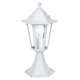 EGLO 22466 | Laterna8 Eglo álló lámpa 40,5cm 1x E27 IP44 fehér, átlátszó