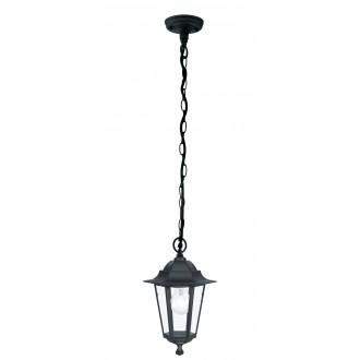 EGLO 22471 | Laterna8 Eglo függeszték lámpa 1x E27 IP44 fekete, áttetsző