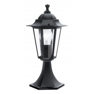 EGLO 22472 | Laterna8 Eglo álló lámpa 40,5cm 1x E27 IP44 fekete, átlátszó
