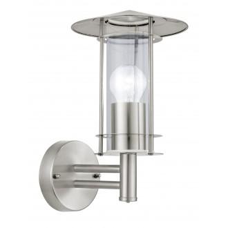 EGLO 30184 | Lisio Eglo fali lámpa 1x E27 IP44 nemesacél, rozsdamentes acél, átlátszó