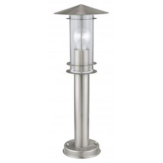 EGLO 30187 | Lisio Eglo álló lámpa 50cm 1x E27 IP44 nemesacél, rozsdamentes acél, átlátszó