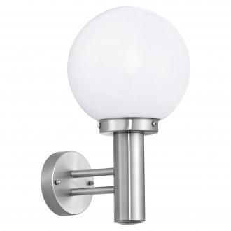 EGLO 30205 | Nisia Eglo fali lámpa 1x E27 IP44 nemesacél, rozsdamentes acél, fehér