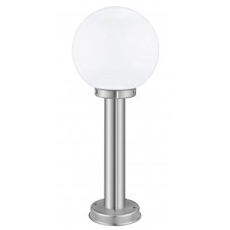 EGLO 30206 | Nisia Eglo álló lámpa 50cm 1x E27 IP44 nemesacél, rozsdamentes acél, fehér