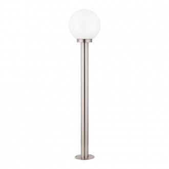 EGLO 30207 | Nisia Eglo álló lámpa 100cm 1x E27 IP44 nemesacél, rozsdamentes acél, fehér