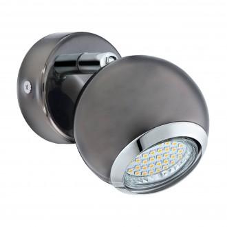 EGLO 31005 | Bimeda Eglo fali lámpa elforgatható alkatrészek 1x GU10 240lm 3000K fekete nikkel, króm