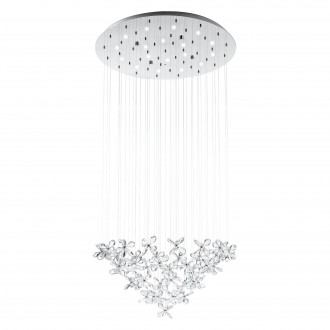 EGLO 31491 | Saraceno Eglo függeszték lámpa szabályozható fényerő 18x LED 2160lm 3000K króm, áttetsző