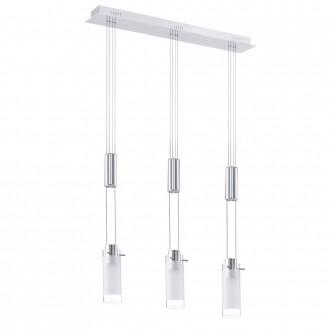 EGLO 31503 | Aggius Eglo függeszték lámpa ellensúlyos, állítható magasság 3x LED 1200lm 3000K króm, fehér, áttetsző