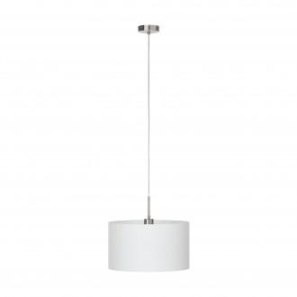 EGLO 31571 | Eglo_Pasteri_W Eglo függeszték lámpa 1x E27 matt fehér, matt nikkel