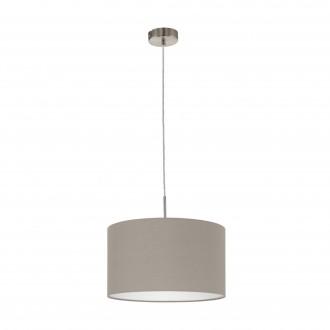 EGLO 31572 | Eglo-Pasteri-T Eglo függeszték lámpa 1x E27 matt taupe, fehér, matt nikkel