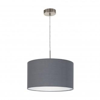 EGLO 31573 | Eglo-Pasteri-G Eglo függeszték lámpa 1x E27 matt szürke, fehér, matt nikkel