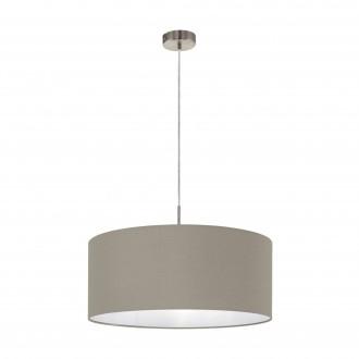 EGLO 31576 | Eglo-Pasteri-T Eglo függeszték lámpa 1x E27 matt taupe, fehér, matt nikkel