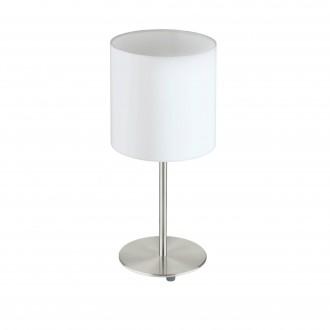EGLO 31594 | Eglo-Pasteri-W Eglo asztali lámpa 40cm vezeték kapcsoló 1x E27 matt fehér, matt nikkel
