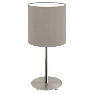EGLO 31595 | Eglo-Pasteri-T Eglo asztali lámpa 40cm vezeték kapcsoló 1x E27 matt taupe, fehér, matt nikkel