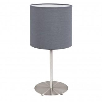 EGLO 31596 | Eglo-Pasteri-G Eglo asztali lámpa 40cm vezeték kapcsoló 1x E27 matt szürke, fehér, matt nikkel