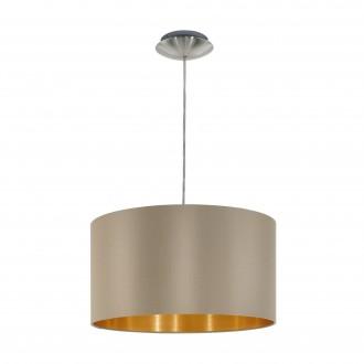 EGLO 31602 | Eglo-Maserlo-TG Eglo függeszték lámpa 1x E27 fényes taupe, arany, matt nikkel
