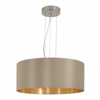 EGLO 31607 | Eglo-Maserlo-T Eglo függeszték lámpa 3x E27 fényes taupe, arany, matt nikkel