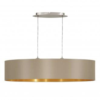 EGLO 31618 | Eglo-Maserlo-T Eglo függeszték lámpa 2x E27 fényes taupe, arany, matt nikkel