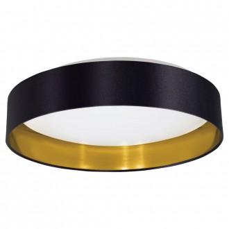 EGLO 31622 | Eglo-Maserlo-B Eglo mennyezeti lámpa 1x LED 1500lm 3000K fényes fekete, arany, fehér