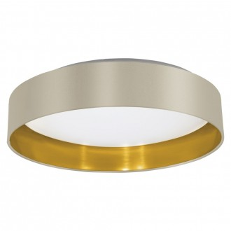 EGLO 31624 | Eglo-Maserlo-TG Eglo mennyezeti lámpa 1x LED 1500lm 3000K fényes taupe, arany, matt nikkel