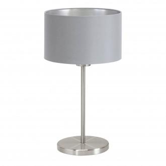 EGLO 31628 | Eglo-Maserlo-G Eglo asztali lámpa 42cm vezeték kapcsoló 1x E27 szürke, ezüst, matt nikkel