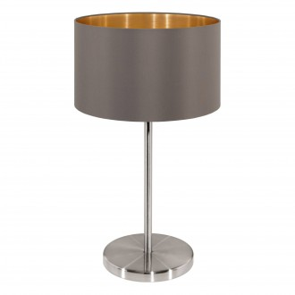 EGLO 31631 | Eglo-Maserlo-C Eglo asztali lámpa 42cm vezeték kapcsoló 1x E27 fényes kapucsínó, arany, matt nikkel