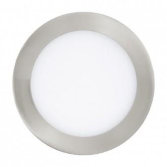 EGLO 31671 | Fueva_1 Eglo beépíthető LED panel kerek Ø170mm 1x LED 1200lm 3000K matt nikkel, fehér