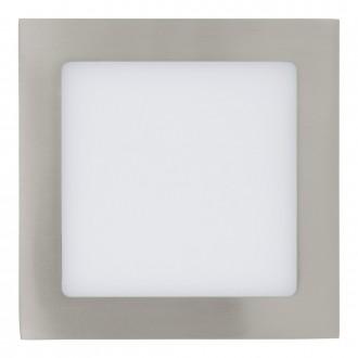 EGLO 31673 | Fueva_1 Eglo beépíthető LED panel négyzet 170x170mm 1x LED 1200lm 3000K matt nikkel, fehér