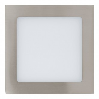 EGLO 31674 | Fueva-1 Eglo beépíthető LED panel négyzet 170x170mm 1x LED 1350lm 4000K matt nikkel