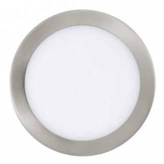 EGLO 31675 | Fueva-1 Eglo beépíthető LED panel kerek Ø225mm 1x LED 1600lm 3000K matt nikkel, fehér