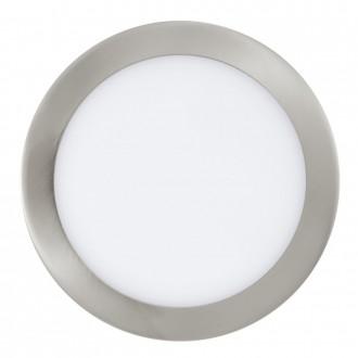 EGLO 31676 | Fueva-1 Eglo beépíthető LED panel kerek Ø225mm 1x LED 2080lm 4000K matt nikkel