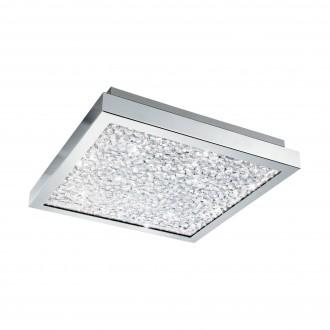 EGLO 32025 | Cardito Eglo mennyezeti lámpa 1x LED 1700lm 3000K króm, áttetsző