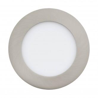 EGLO 32753 | EGLO-Connect-Fueva Eglo beépíthető okos világítás kerek szabályozható fényerő, állítható színhőmérséklet, színváltós Ø120mm 1x LED 700lm 2700 <-> 6500K matt nikkel, fehér